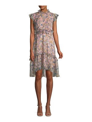 KENDALL + KYLIE Floral-Print Ruffle Knee-Length Dress