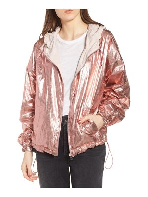 KENDALL + KYLIE Metallic Reversible Windbreaker Jacket