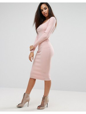 KENDALL + KYLIE paneled pencil skirt-pink