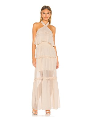 KENDALL + KYLIE ruffled halter maxi dress