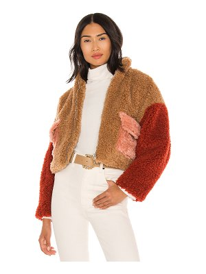 KENDALL + KYLIE sherpa front zipped utility jacket