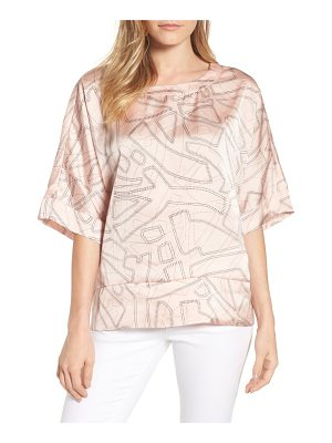 KENNETH COLE Boxy Crop Satin Tee