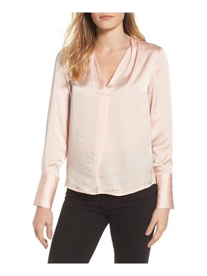 KENNETH COLE Crinkle Long Sleeve Blouse