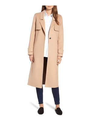 Kenneth Cole double face wool blend long coat