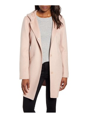 Kenneth Cole hooded wool blend duffle coat