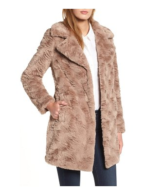 Kenneth Cole textured faux fur coat