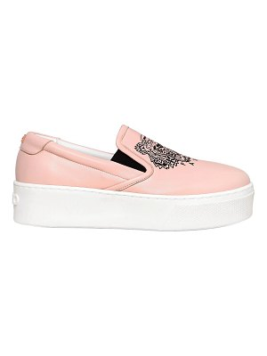KENZO 40mm tiger leather platform sneakers