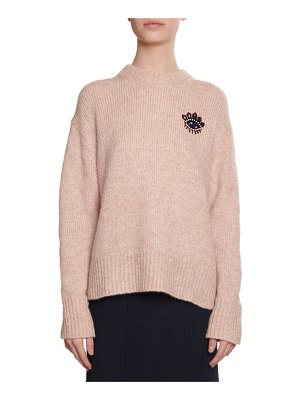 KENZO Beaded Eye Mohair Pullover Sweater