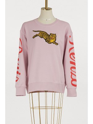 KENZO Cotton jumping tiger sweatshirt