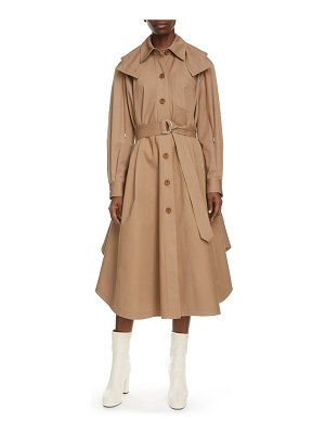KENZO engineered curve hem trench coat