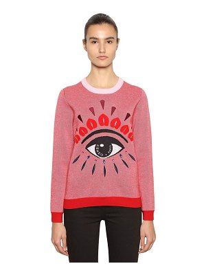 KENZO Eye embellished wool blend sweater