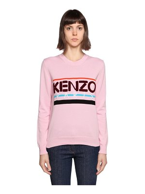 KENZO Logo patch cotton sweater