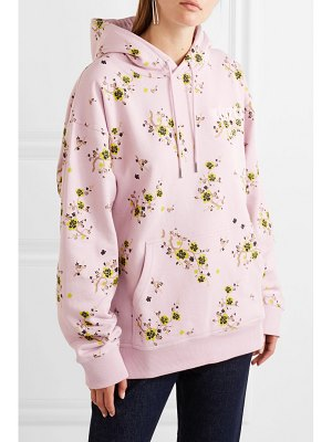 KENZO oversized floral-print cotton-jersey hoodie