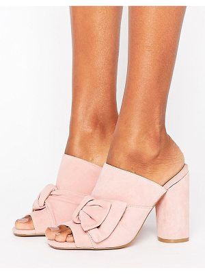 Kurt Geiger London KG By Kurt Keiger Jessika Pink Suede Bow Heeled Mules