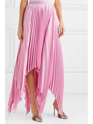 Khaite charlotte pleated asymmetric satin midi skirt