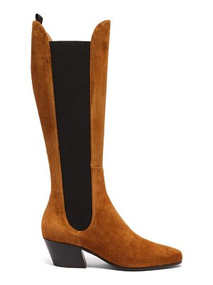 Khaite chester suede knee-high boots