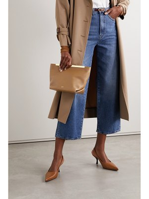Khaite envelope pleat leather clutch