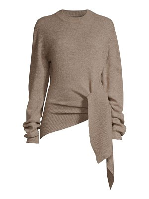 Khaite esme stretch cashmere wrapped sweater