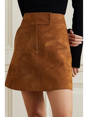 Khaite giulia suede mini skirt