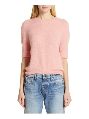 Khaite lydia short sleeve cashmere sweater