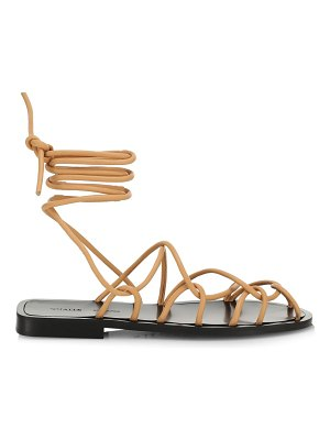 Khaite lyon suede lace-up sandals
