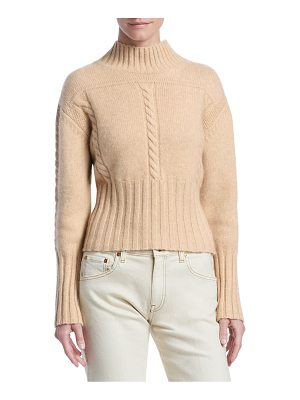 Khaite maude cashmere mock-neck sweater