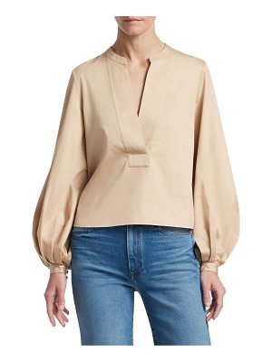 Khaite suzanna balloon-sleeve blouse