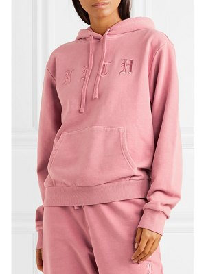 Kith serena embroidered cotton-jersey hoodie