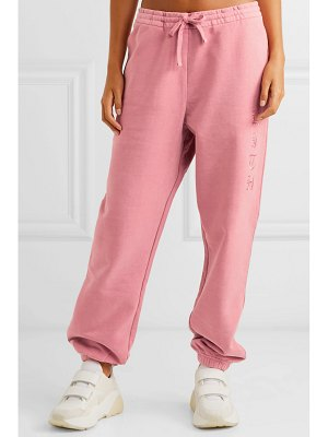 Kith terryka embroidered cotton-jersey track pants