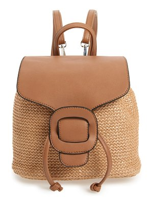 KNOTTY convertible faux leather & straw backpack