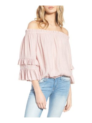 KNOWONECARES Know One Cares Tiered Off The Shoulder Top