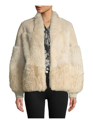 KOBI HALPERIN Connie Patched Lamb Fur Jacket