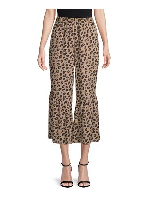 KOBI HALPERIN leah animal-print silk wide-leg pants