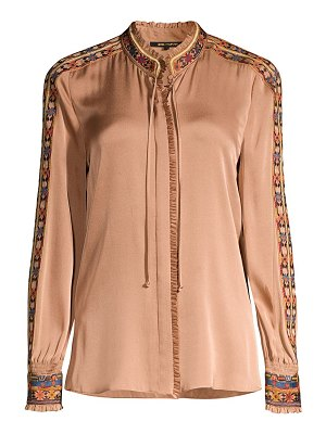 KOBI HALPERIN owen embroidered silk blend blouse
