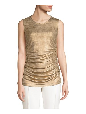 KOBI HALPERIN paige metallic sleeveless top