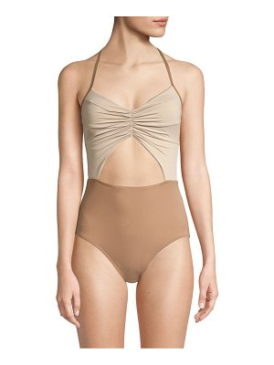 Kore flora cutout one-piece swimsuit