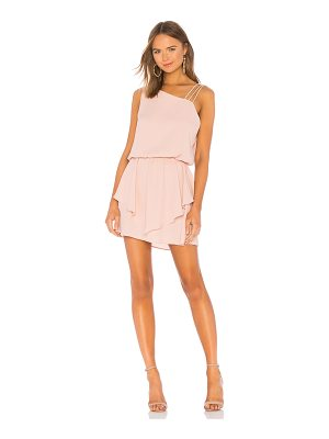 krisa Asymmetrical Layered Mini Dress