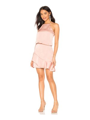 krisa Halter Ruffle Mini Dress