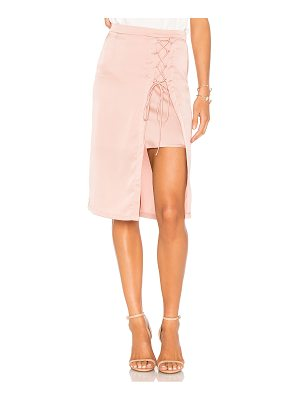 KRISA Layered Lace Up Pencil Skirt