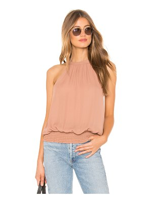 krisa Smocked Hem Halter Top