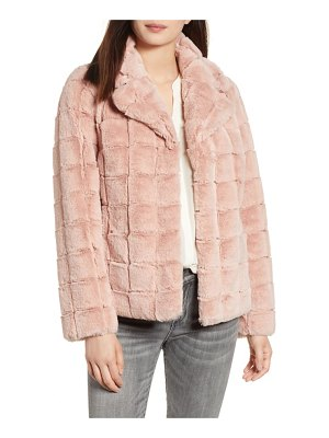 Kristen Blake quilted faux fur jacket