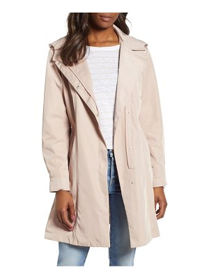Kristen Blake tech hooded trench coat