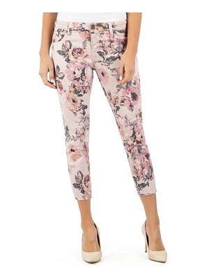 KUT from the Kloth connie floral print crop skinny jeans