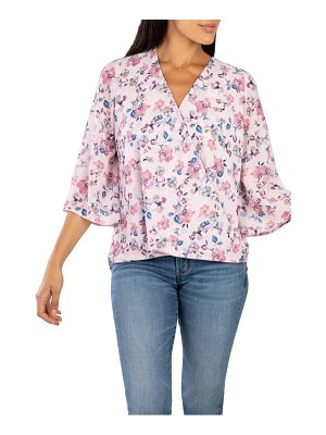 KUT from the Kloth ivana floral print faux wrap blouse