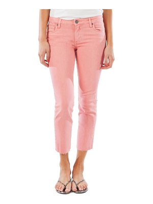 KUT from the Kloth reese raw hem ankle straight leg jeans