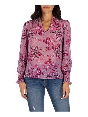 KUT from the Kloth sage floral print blouse
