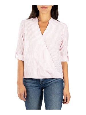 KUT from the Kloth tamara stripe surplice top