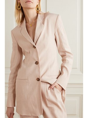 La Collection alba linen-blend blazer