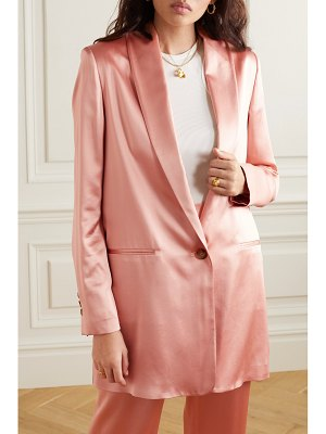 La Collection amandine silk-satin blazer