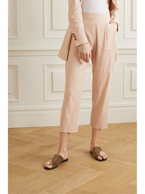 La Collection luela cropped linen-blend tapered pants
